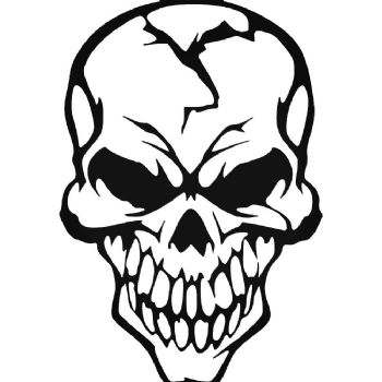 Skull (Design 10) Car Stickers Motorbike Vinyl Decals Fairings Panniers